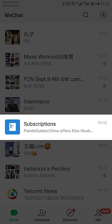 WeChat Subscriptions